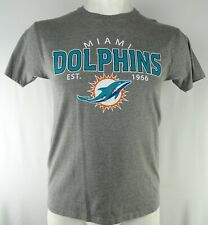 Miami Dolphins NFL Hands High Men's Gray Short Sleeve T-Shirt *Flawed