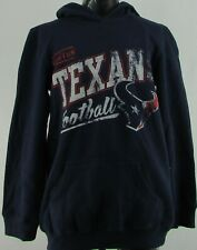Houston Texans NFL Team Apparel Youth's Navy Mid-Weight Pullover Hoodie