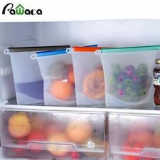 Food Storage Bag Reusable Silicone Container Leakproof Preservation Zip Seal Top