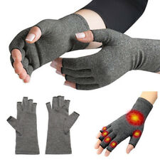 Pair of Copper Anti Arthritis Gloves Hand Support Pain Relief Finger Compression