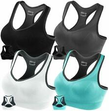 FITTIN Racerback Sports Bras for Women- Padded Seamless High Impact Support for