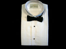 NEW MENS WHITE WING TUXEDO DRESS SHIRT & BOW TIE PK SZ