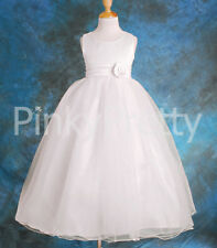 Wedding Flower Girl Bridesmaid Party Dresses Age 12m-8y