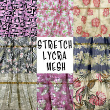 2Y STRETCH LYCRA MESH MANY PRINTS