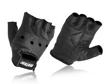 FULL LEATHER WEIGHT LIFTING GLOVES £3.20 FREE DELIVERY