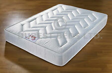 ORTHO DAMASK MEDIUM MATTRESS 3FT 4FT6 5FT QUILTED 10""