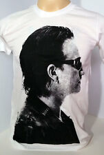 BONO U2 Irish alternative rock band white t shirt size S,M,L,XL