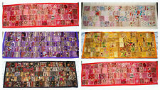 """Patchwork Indian table runner / wall hanging - 60x18"""""""