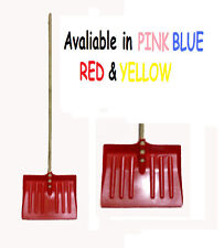 KETOPLASTICS SNOW SHOVEL MUCKING OUT SHOVEL SCOOP WITH WOODEN HANDLE
