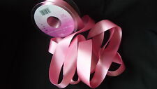 Double Faced Satin Ribbon Berisfords Hot Pink Colour 52