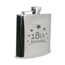 Assorted Quality Engraved Birthday 18th 21st 30th 40th Hip Flask and Gift Box