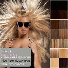 Clip In Remy Human Hair Extensions Full Head ANY COLOUR