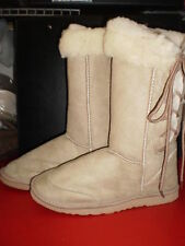 Ladies Lace Up Ugg Boots Beige size 5 to 10