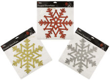 29cm Frosted Snowflake Xmas Dec 3 Col Available PM127