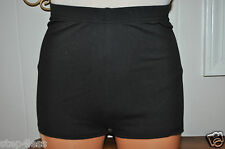 Nwt Bal togs Adult-3 sizes  Cotton-lycra BLACK  High rise dance Shorts item #336