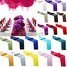 5PCS Satin Table Runners Wedding Decoration 12inches*108inches 30cm*275cm New