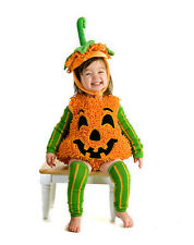 Kids Happy Pumpkin Fuzzy Jumpsuit Halloween Costume