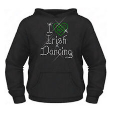Diamante Girls I Love (Heart) Irish Dancing hoodie 7-15 Years Celtic Knot
