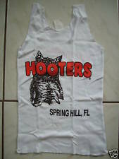NEW HOOTERS SUPER SEXY WOMEN'S AUTHENTIC WHITE UNIFORM TANK TOP FLORIDA XS/S/M/L