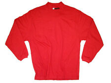 WISCONSIN BADGERS ADULT RED LONG SLEEVE EMBROIDERED MOCK TURTLE NECK T-SHIRT NWT