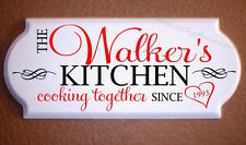 Personalized Kitchen Sign / Plaque