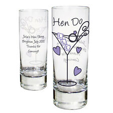 Personalised 18th 21st 40th Birthday Glass Hen Night Christmas Shot Glasses