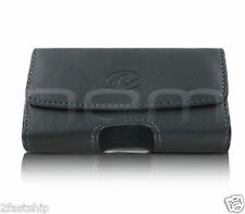BLACK PREMIUM LEATHER POUCH CASE FOR PANTECH PHONES COVER WITH BELT CLIP LOOP