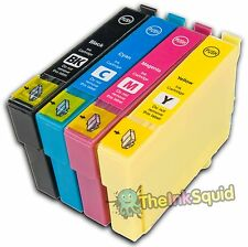 4 Compatible Ink Cartridges with chips for Epson Stylus Printers (non-oem)