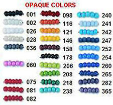 Czech Opaque Glass Seed Beads.Crafts & Jewelry  1 Hank Size 10/0
