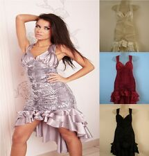 Ladies Women Bridesmaid Sexy Mini Party Clubbing Dress Wedding Evening 8 - 18