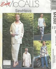 McCall's 4392 Misses' / Miss Petite Unlined Jacket, Pants in 2 Lengths & Skirt