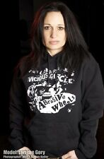 ABRASIVE WHEELS #1 VICIOUS CIRCLE HOODED SWEATSHIRT 77 OI PUNK UK82 POGO HOODIE