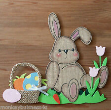 Easter Die Cuts - Bunny Valentine - Cards - Topper - Scrapbook - Kids