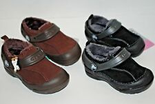 NWT CROCS DAWSON BLACK / GRAPHITE or ESPRESSO brown 5 6 7 8 9 10 12 13 kid shoes