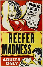 REEFER MADNESS Movie Poster The Burning Question Pot Weed Drugs 420 Sex