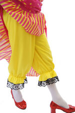 UGLY SISTER/Panto Dame/WIDOW TWANKY/STAG Yellow & Black lace Bloomers sml-XXXXL