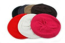 Various Color Winter Knit Beret Crochet Beanie 801HB