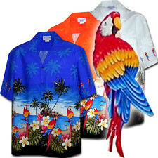 Wild Parrots Men's Tropical Hawaiian Shirts 440-3468 NEW USA Made Free Shipping!