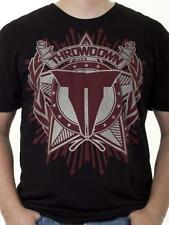 "THROWDOWN BY AFFLICTION ""SILVER"" BLACK MMA T-SHIRT"