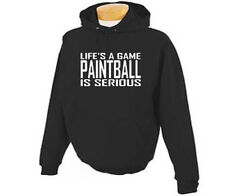 Paintball Life's A Game Paintballing Adult Hoodie