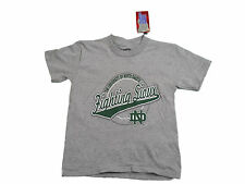 NORTH DAKOTA FIGHTING SIOUX YOUTH GREY FRONT & BACK LOGO T-SHIRT NEW