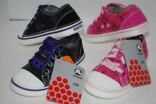 NWT CROCS GIRLS ARGYLE HOVER SNEAK FUCHSIA / PINK BLACK / PURPLE 9 10 11 12 13 1