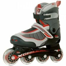 New Xcess MX S1000 Boys Adjustable Inline Roller Skates- Red (S, M or L)