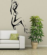 Sexy Naked Lady Silhouette Large Vinyl Art Decal Sticker FREE P&P ! 35 COLOURS !
