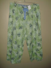 New Charter Club Intimates Cropped Sleep Pants Garden Green Collection