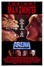 ARENA Movie Poster 1989 Sci-Fi Action Aliens Monsters
