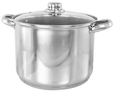 BUCKINGHAM INDUCTION DEEP LARGE STOCK POT STOCKPOT STEW / SOUP POT  9 L to 19 L