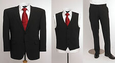 """BNWT Skopes wool blend 3 piece suit in plain Charcoal, chest 48"""" to 52"""""""