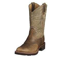 Ariat Mens Heritage Crepe Cowboy Western Boot Earth Brown Bomber 10002559 39904