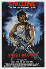 FIRST BLOOD Movie Poster Stallone Rambo